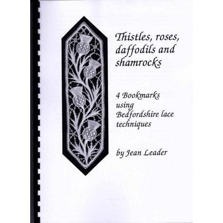 Four bookmarks: Thistles, roses, daffodils and shamrocks by Jean Leader