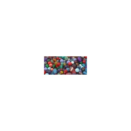 Glass Beads Mixture of assorted colours and sizes 100g bag