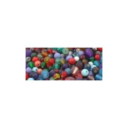 Glass Beads Mixture of assorted colours and sizes 200g bag