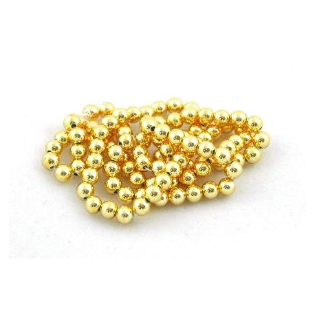 Acrylic Spacer Beads 3mm diameter approx gold string of 30 beads