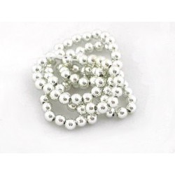 Acrylic Spacer Beads 4mm diameter approx silver string of 30 beads
