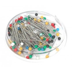 Plastic headed pins Coloured heads