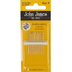 Embroidery Crewels Size 5-10 pack of 16
